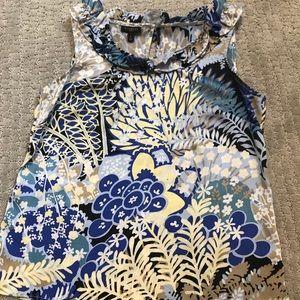 Ruffled sleeveless blouse